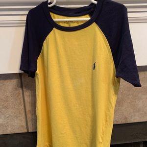 Yellow/ Navy blue Ralph Lauren Polo T-shirt size s